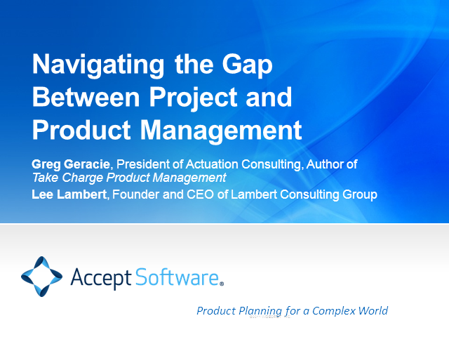Navigating the Gap Between Project and Product Management