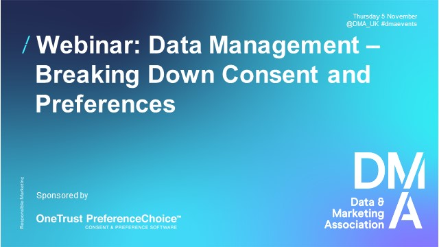 Webinar: Data Management - Breaking Down Consent and Preferences