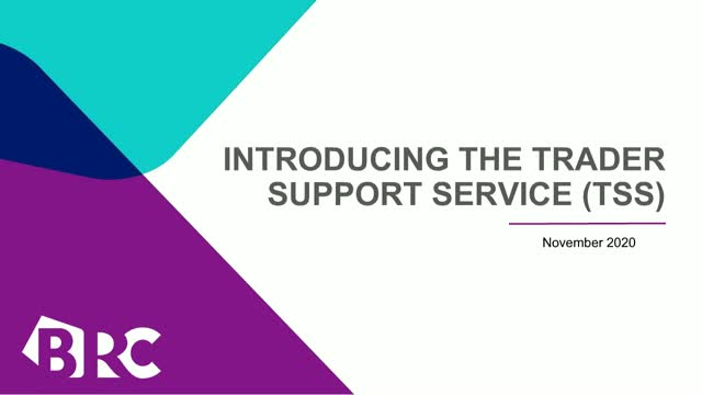 Introducing the Trader Support Service (TSS)