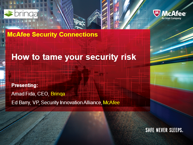 How to tame your security risk