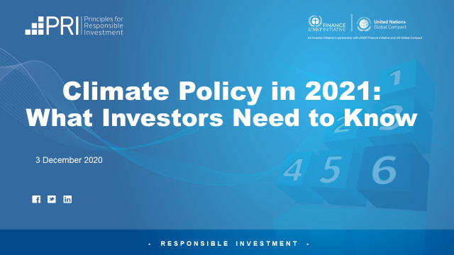 US Climate Policy in 2021: What Investors Need to Know