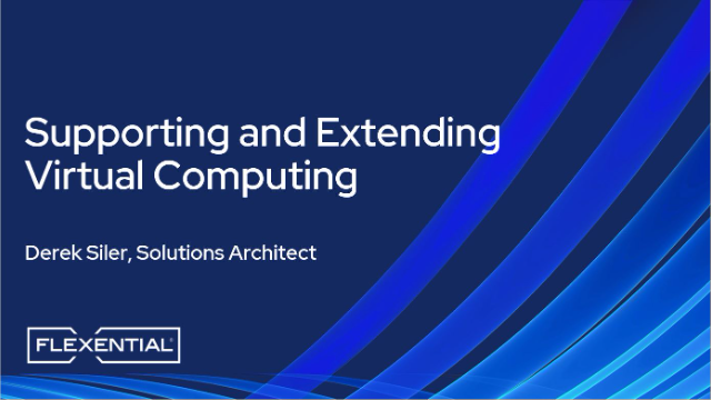 Supporting and Extending Virtual Computing