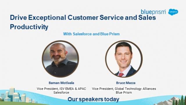 Exceptional Customer Service in Finance & Manufacturing w/ SFDC & Blue Prism
