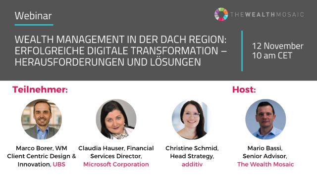 Wealth Management in der DACH Region:  Erfolgreiche digitale Transformation