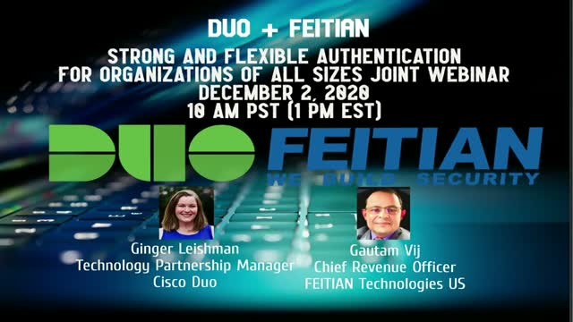 The Duo Integrated Solution/FEITIAN Technologies Authentication Capabilities