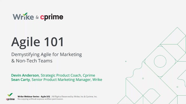 Agile 101- Demystifying Agile for Marketing and Non-Tech Teams