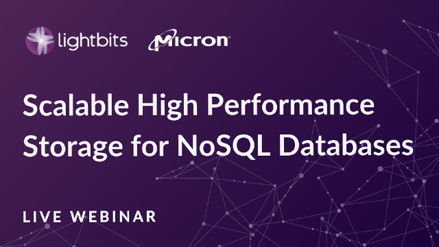 Scalable High Performance Storage For NoSQL Databases