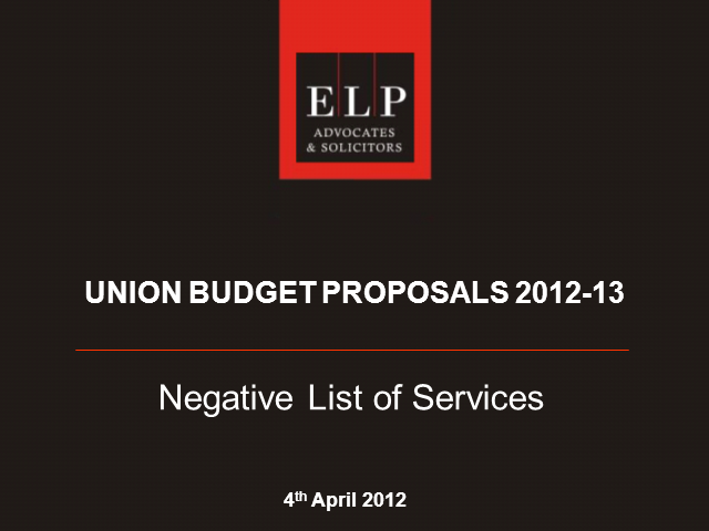 Negative List of Services - key Challenges in India