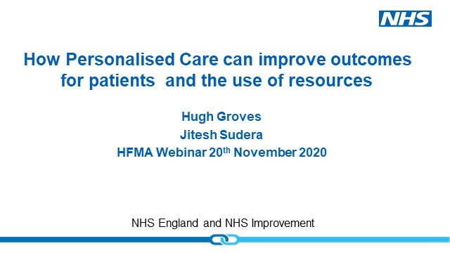 How Personalised care can improve outcomes for patients and the use of resources