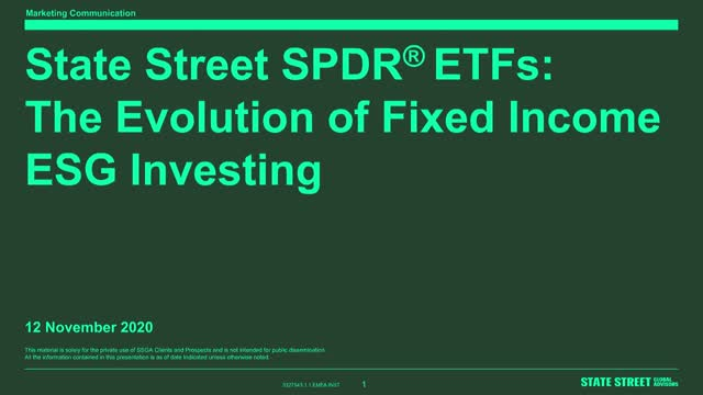 SPDR ETFs: The Evolution of Fixed Income ESG Investing