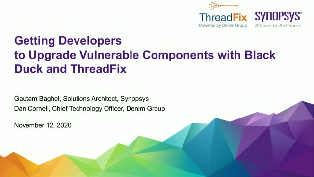 Getting Developers to Upgrade Vulnerable Components With Black Duck & ThreadFix