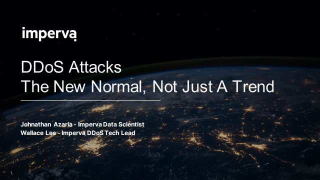 DDoS Attacks: The New Normal, Not Just A Trend