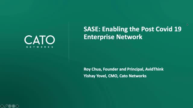 SASE: Networking and Security Architecture for the post COVID-19 World