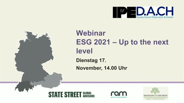 "IPE D.A.CH-Webinar ""ESG 2021 – Up to the next level?"""