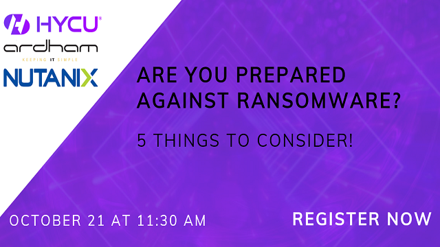 Are you prepared against ransomware? 5 things to consider!