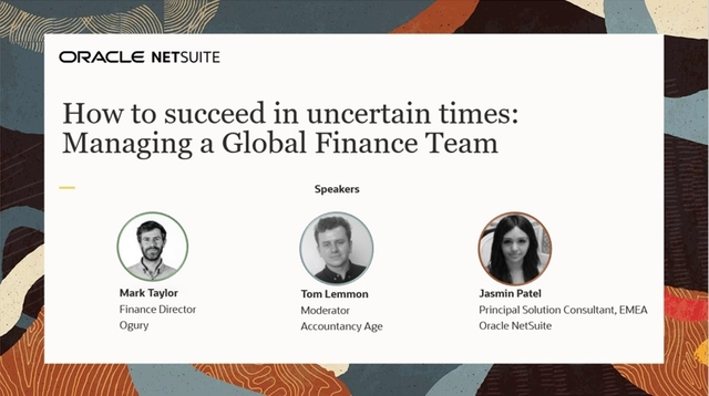 How to succeed in uncertain times: Managing a Global Finance Team