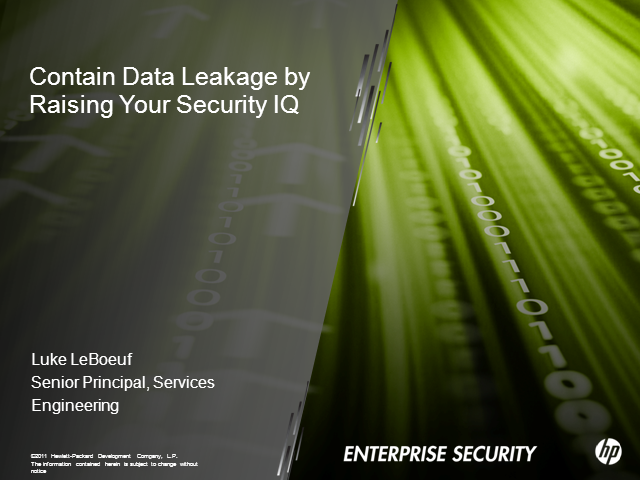 Contain Data Leakage by Raising Your Security IQ