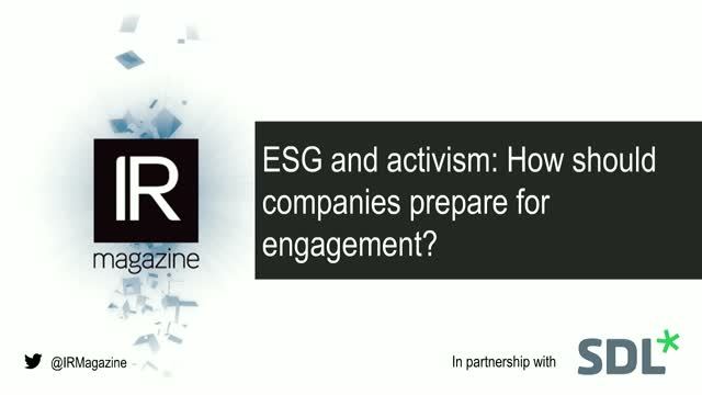 Webinar – ESG and activism: How should companies prepare for engagement?