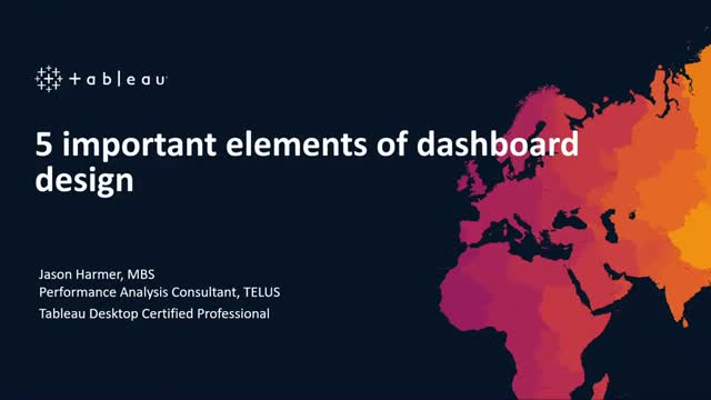 5 important elements of dashboard design