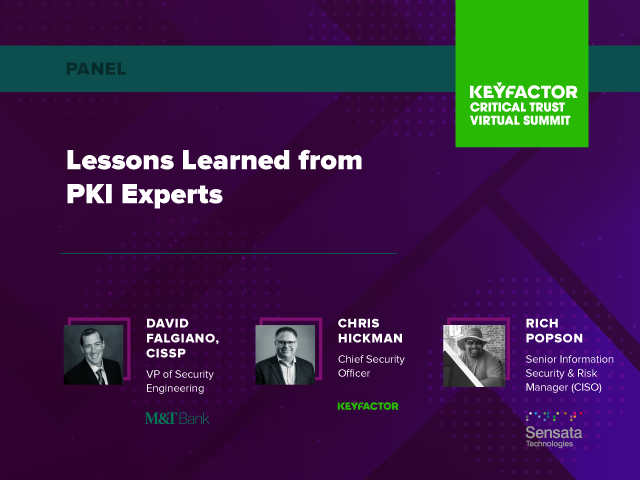Lessons Learned from PKI Experts