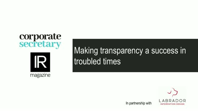 Webinar – Making transparency a success in troubled times