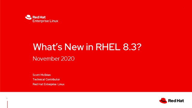 What's new in Red Hat Enterprise Linux (RHEL) 8.3