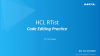 Code Editing Practice in HCL RTist