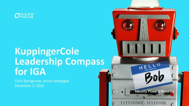 KuppingerCole Leadership Compass for Identity Governance and Administration