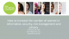 How to increase the number of women in information security, risk management and