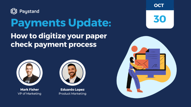 How to digitize your paper check payment process