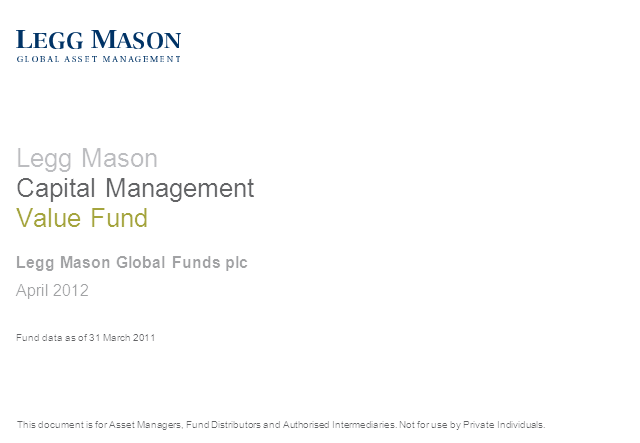 Legg Mason Capital Management Value Fund