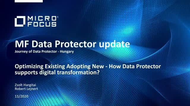 Journey of Data Protector in Hungary