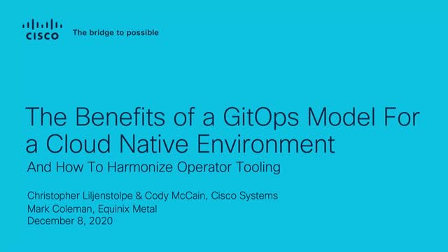 The Benefits of a GitOps Model for a Cloud-Native Environment