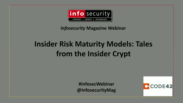 Insider Risk Maturity Models: Tales from the Insider Crypt