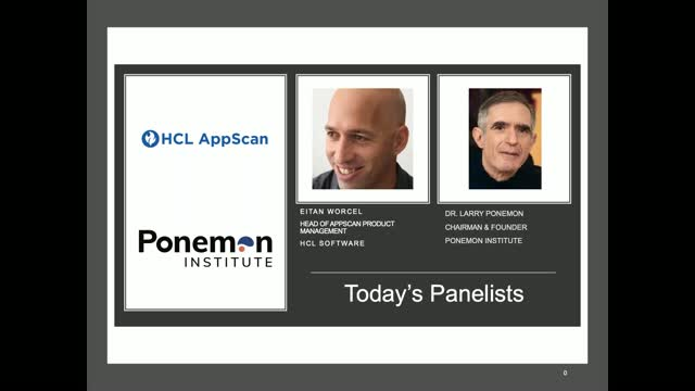 "Ponemon Institute & HCL Analyze Results of ""AppSec in DevOps Environment"" Study"