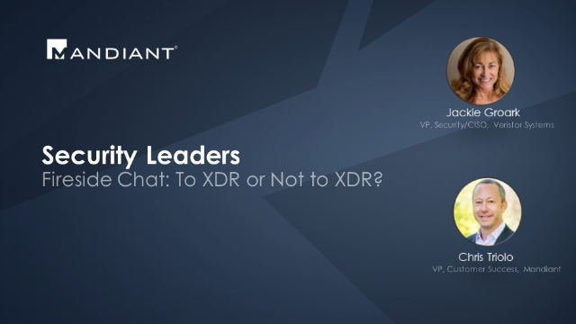 To XDR or Not to XDR?