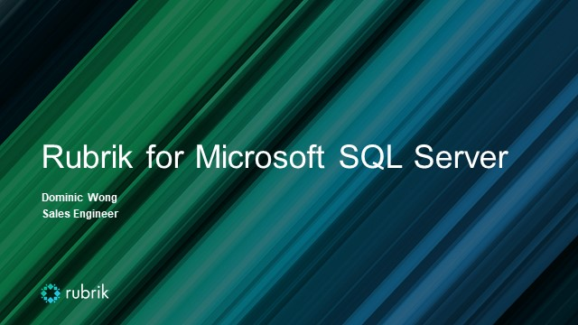 Technical Thursday : Unleash The Power of SQL with Rubrik