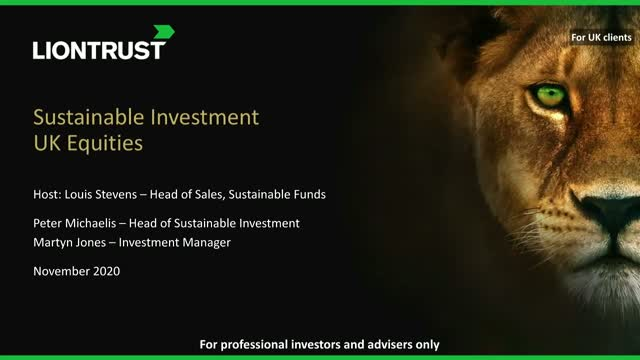 Liontrust Views - Update on Liontrust UK Ethical & SF UK Growth Funds (UK ONLY)