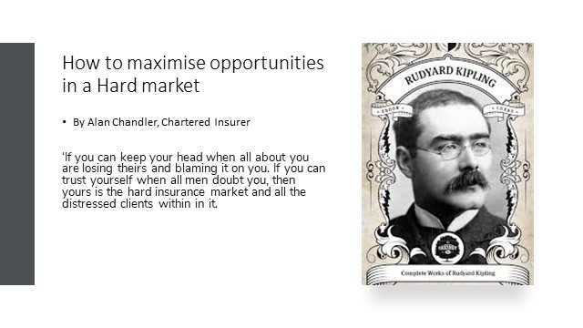 Cii presetation – How to maximise opportunities in a hard market