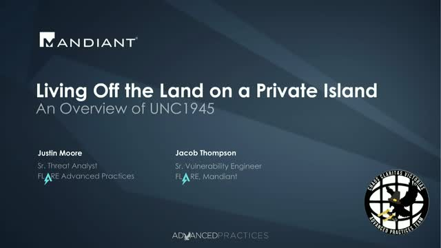 Living Off The Land on a Private Island: An Overview of UNC1945