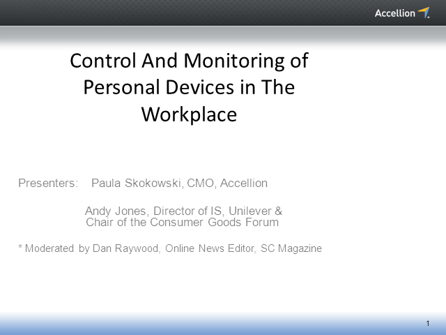 Control And Monitor Personal Devices In The Workplace
