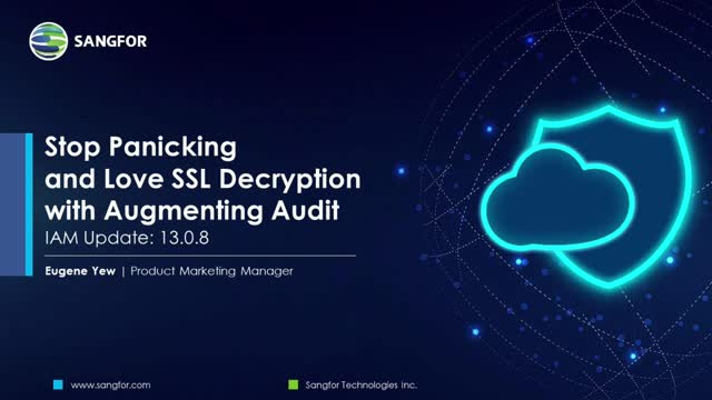 Stop Panicking and Love SSL Decryption with Augmenting Audit