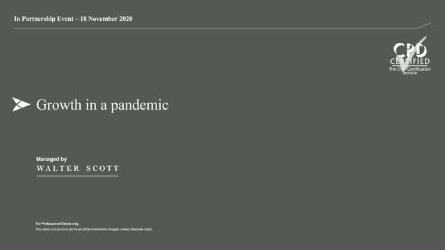 In Partnership -BNY Mellon Event, 'Growth in a Pandemic'