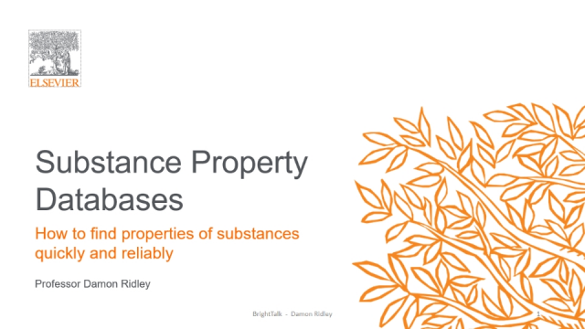 Property Searching in Reaxys and Related Chemistry Databases