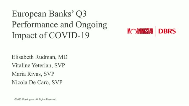 European Banks' Q3 Performance and Ongoing Impact of COVID-19
