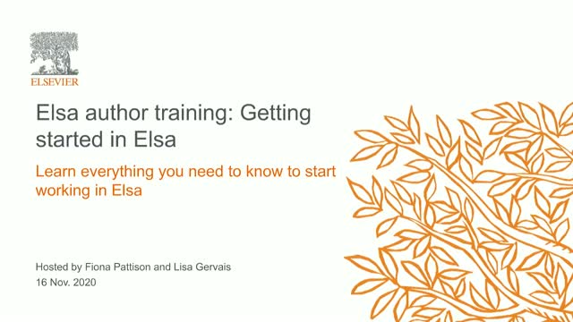 Elsa Training: How to Get Started in Elsa