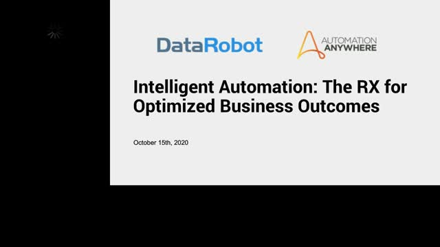 Intelligent Automation: The RX for Optimized Business Outcomes