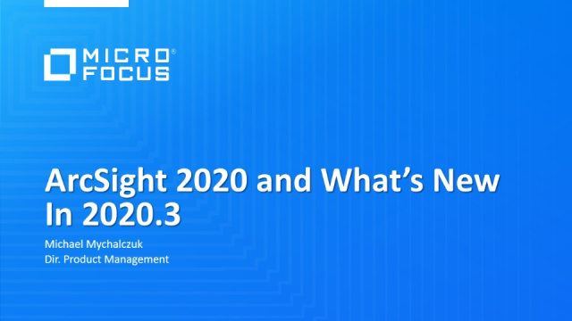Wrapping up ArcSight 2020