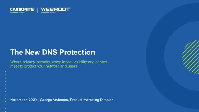 The New DNS Protection - Privacy, Security, Compliance, Visibility, Compliance