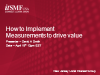 New Jersey IG: How to Implement Measurements to Drive Value